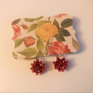 Jewelry - Holiday bow earrings